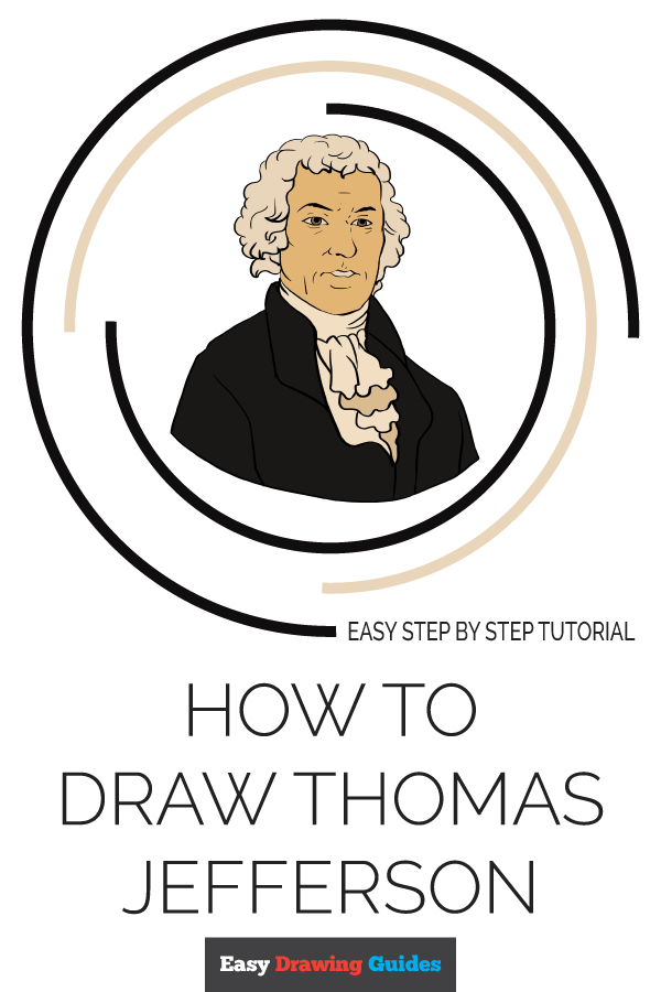 How to Draw Thomas Jefferson | Share to Pinterest