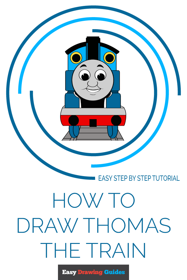 How to Draw Thomas the Train | Share to Pinterest