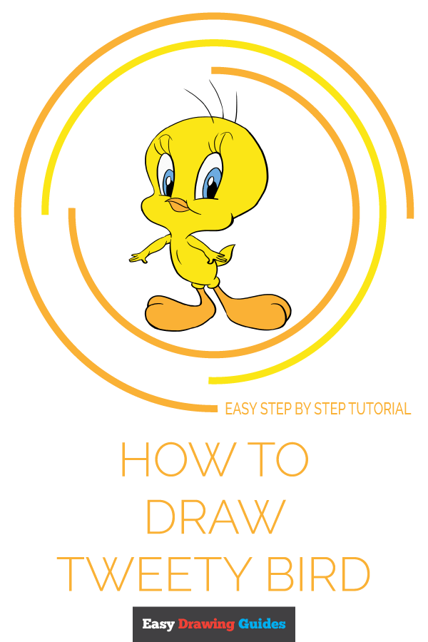 How to Draw Tweety Bird | Share to Pinterest