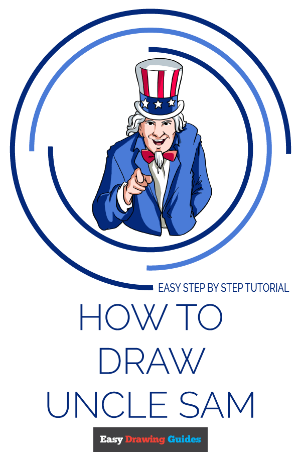 How to Draw Uncle Sam | Share to Pinterest