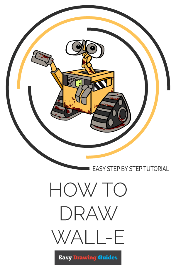 How to Draw WALL-E | Share to Pinterest