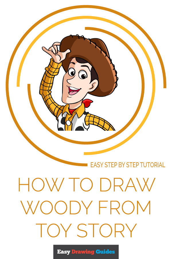 How to Draw Woody from Toy Story Pinterest Image