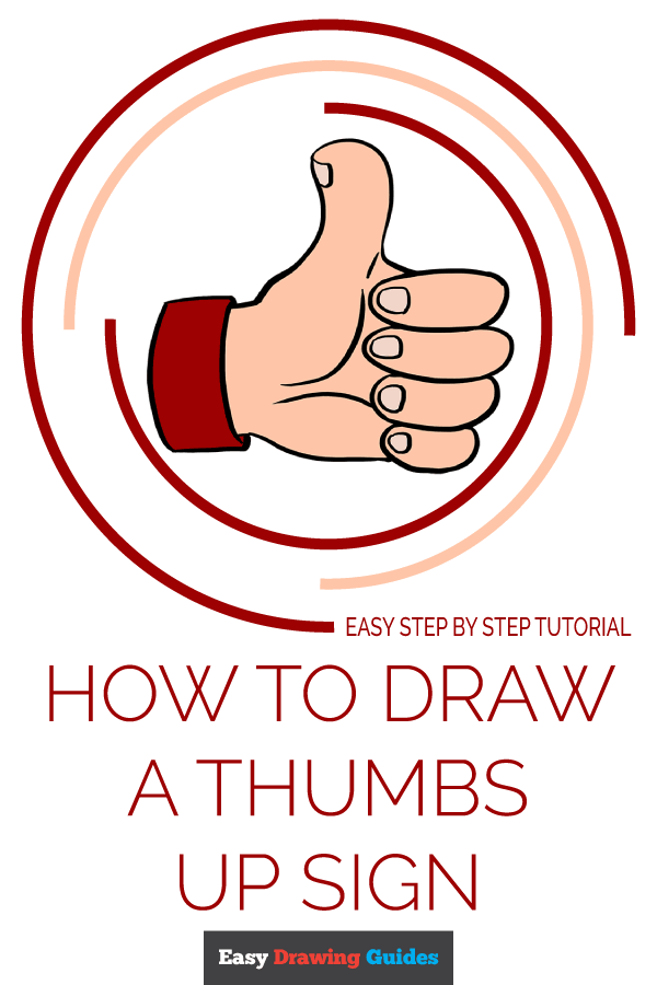 How to Draw Thumbs up Sign | Share to Pinterest