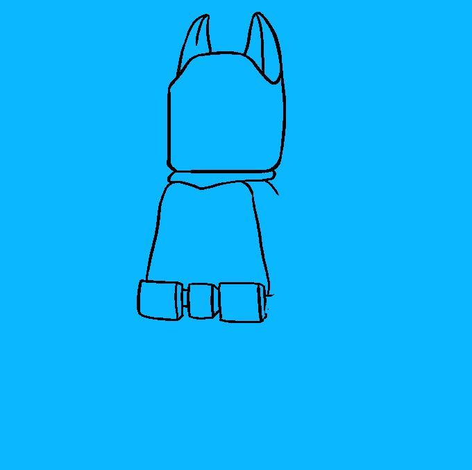 How to Draw Lego Batman: Step 6