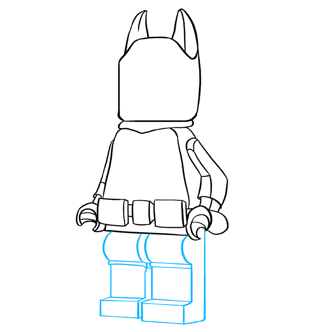 How to Draw Lego Batman: Step 8
