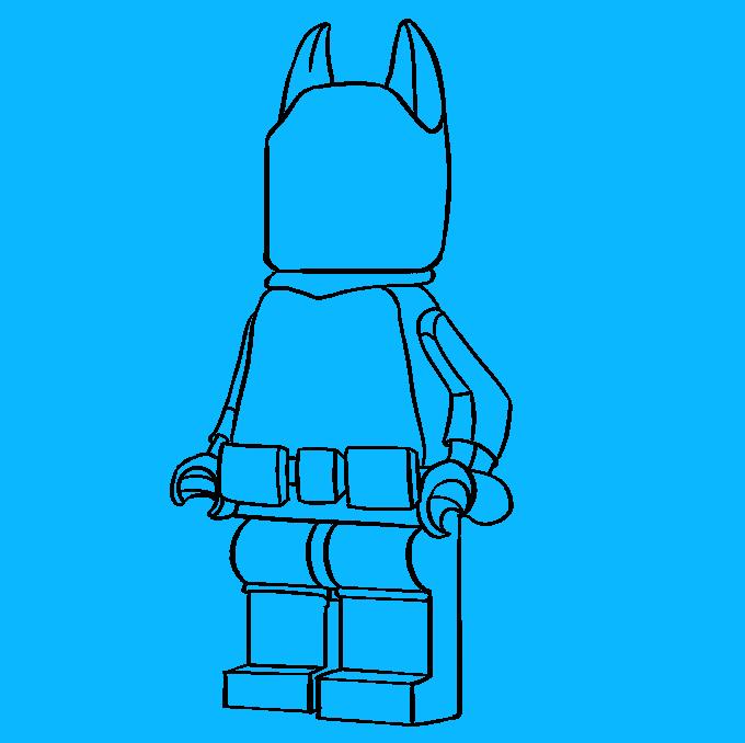 How to Draw Lego Batman: Step 9
