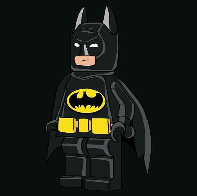 How to Draw Lego Batman: Step 10