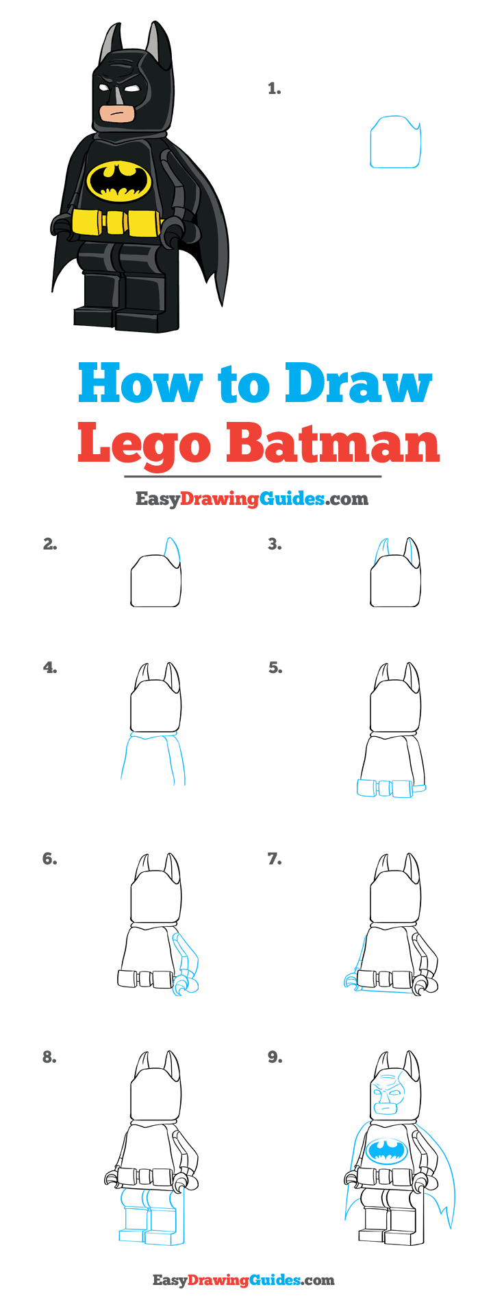 How to Draw Lego Batman