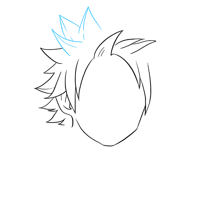 How to Draw Natsu from Fairy Tail: Step 3