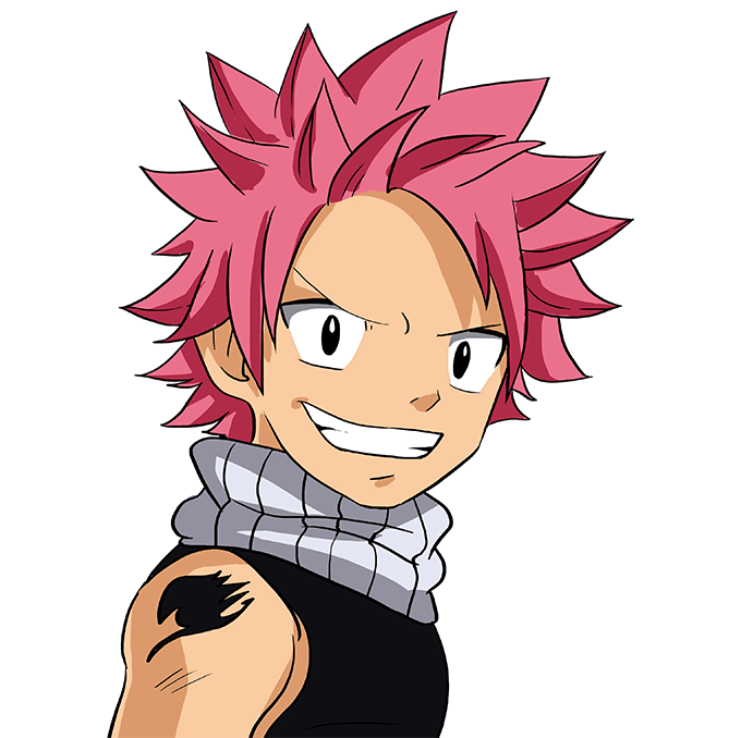 How to Draw Natsu from Fairy Tail Step 10