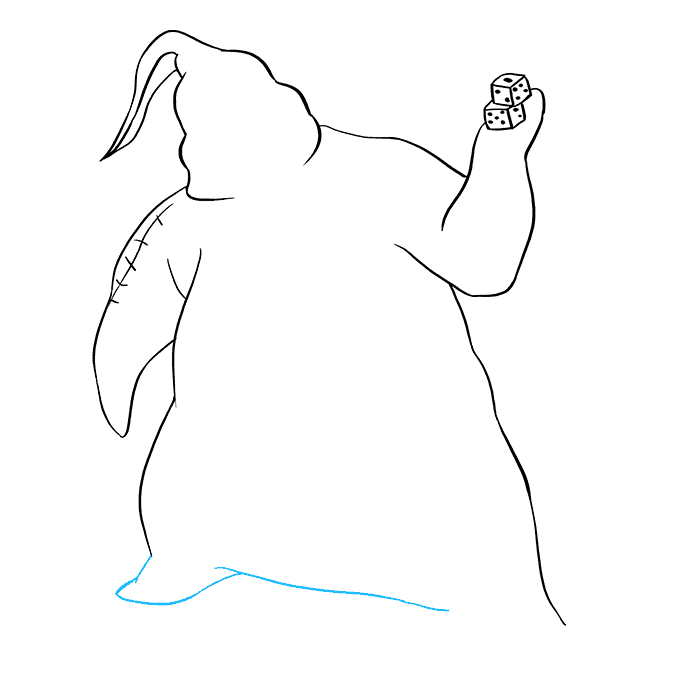 How to Draw Oogie Boogie from the Nightmare Before Christmas: Step 6