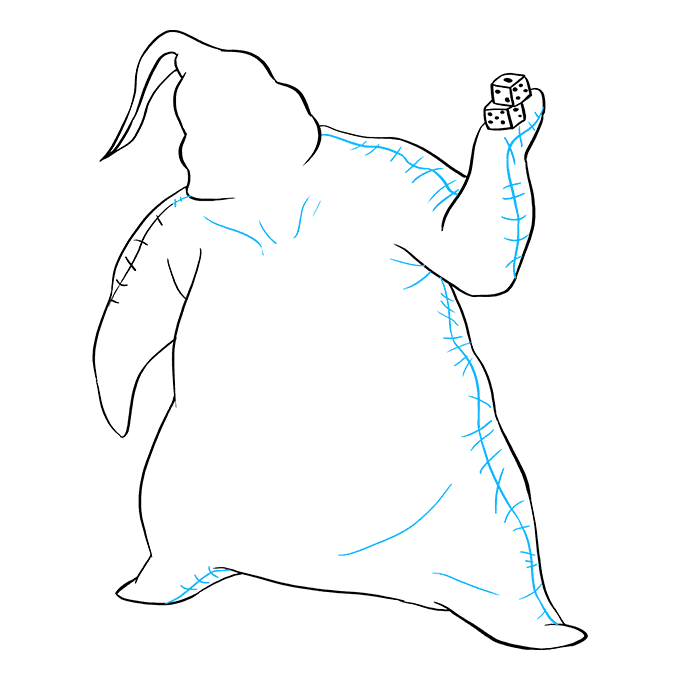 How to Draw Oogie Boogie from the Nightmare Before Christmas: Step 8