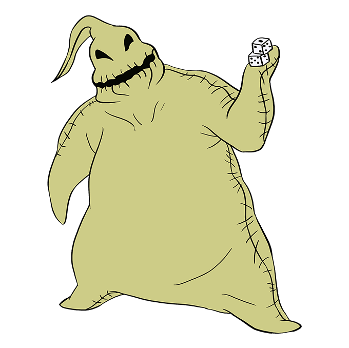 How to Draw Oogie Boogie from the Nightmare Before Christmas: Step 10