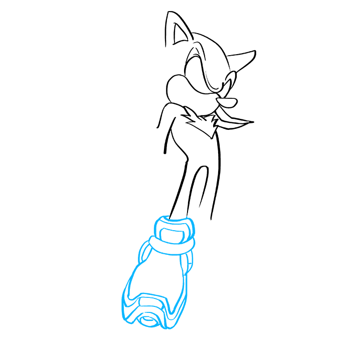 How to Draw Shadow the Hedgehog: Step 4