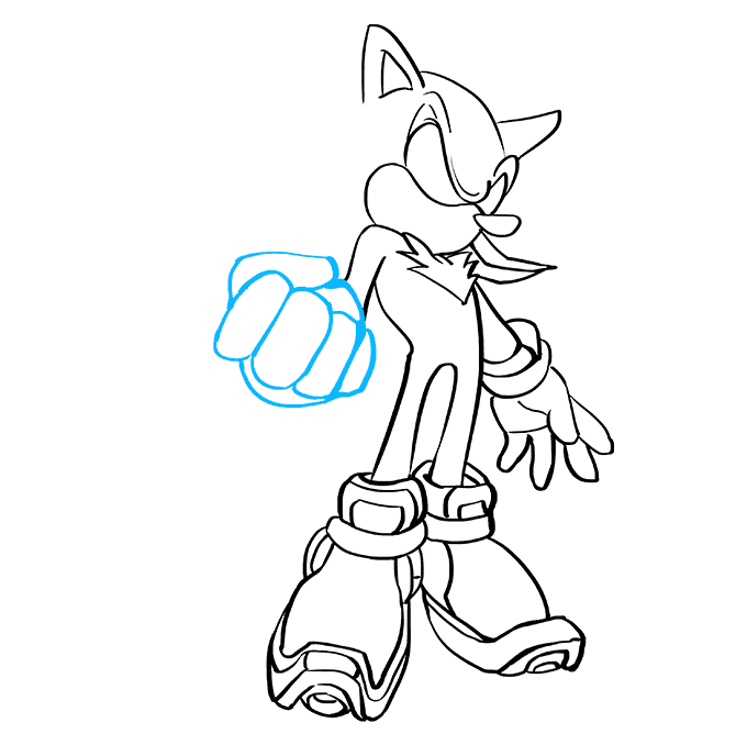 How to Draw Shadow the Hedgehog: Step 7