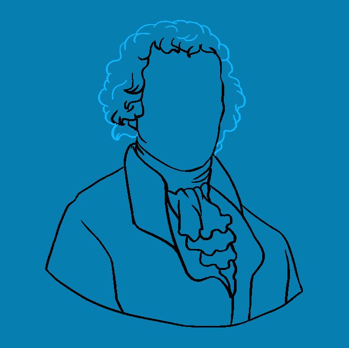 How to Draw Thomas Jefferson: Step 7
