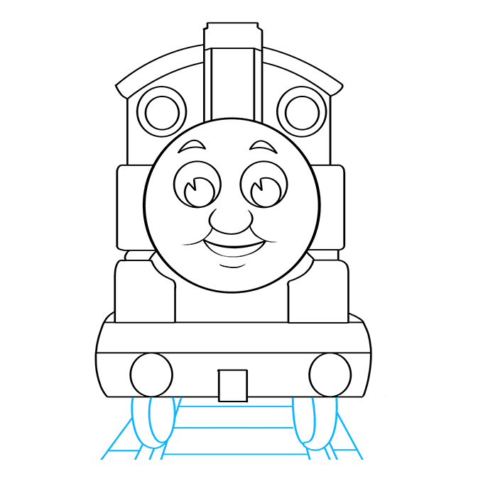 How to Draw Thomas the Train: Step 9
