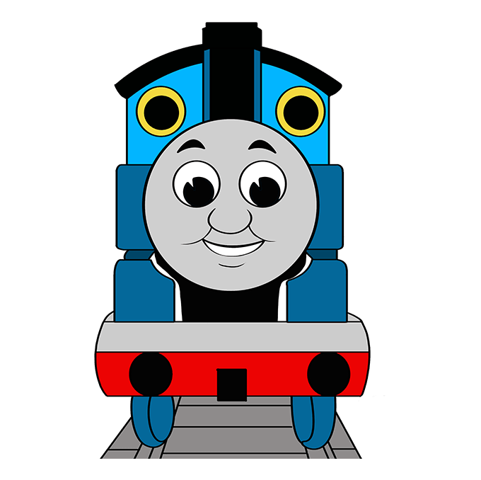 How to Draw Thomas the Train: Step 10