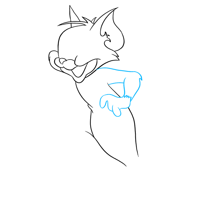 How to Draw Tom from Tom and Jerry: Step 5