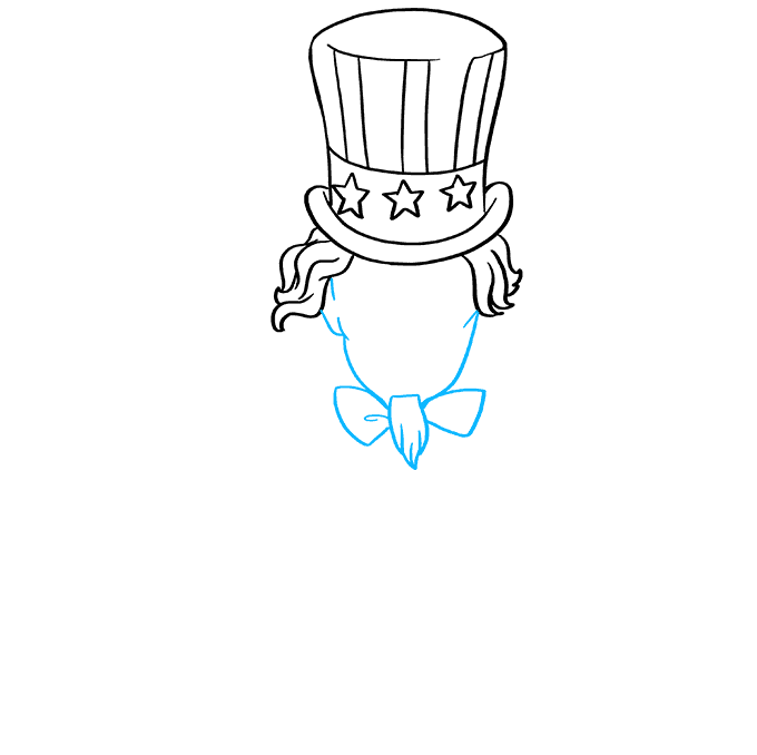 How to Draw Uncle Sam: Step 4