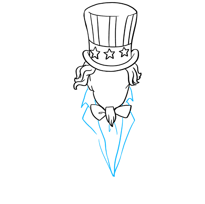How to Draw Uncle Sam: Step 5