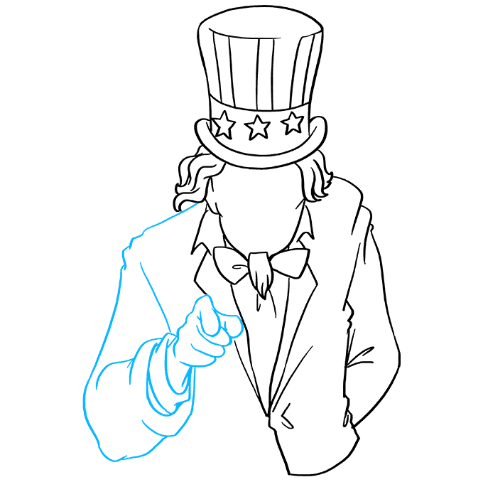 How to Draw Uncle Sam: Step 7