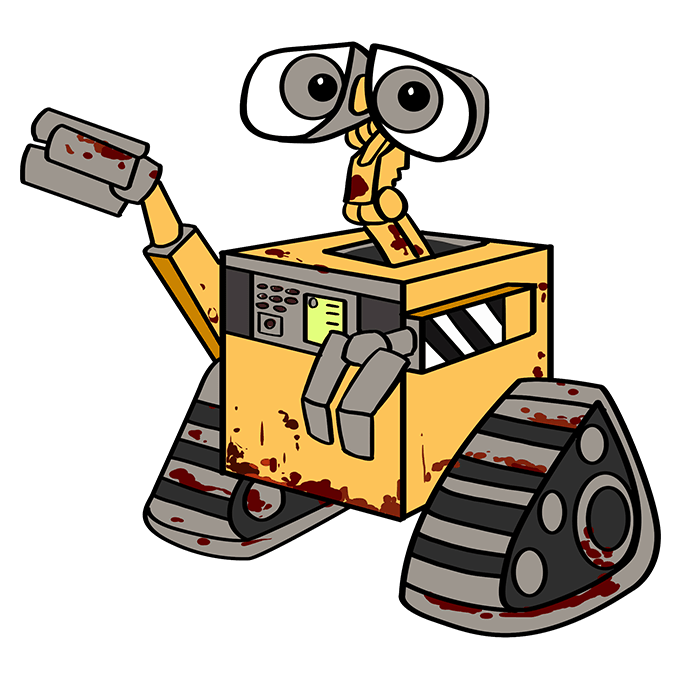 How to Draw WALL-E: Step 10