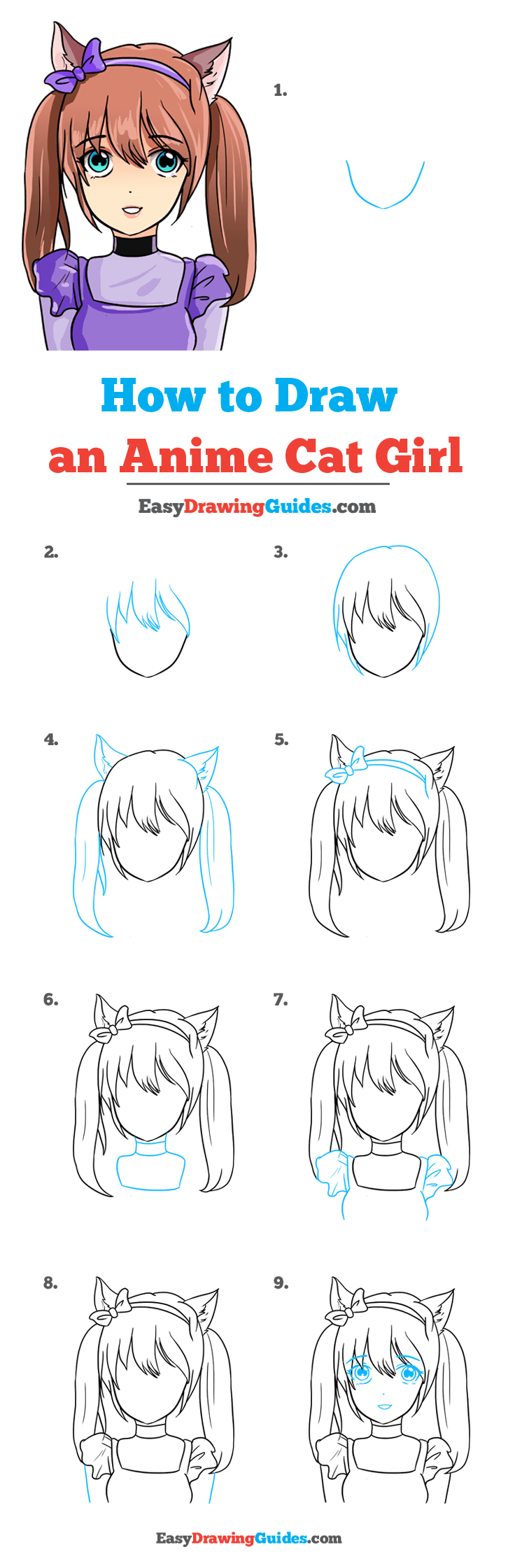 How to Draw Anime Cat Girl