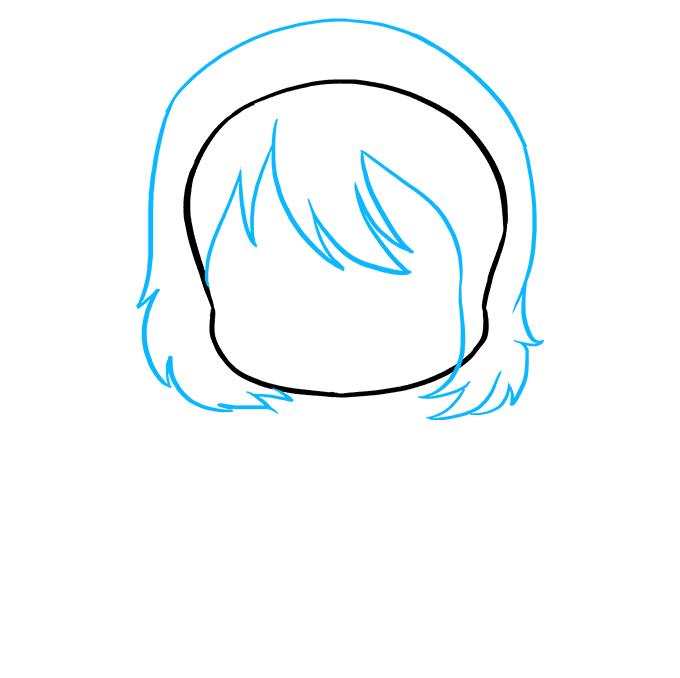 How to Draw an Anime Chibi Girl Step 02