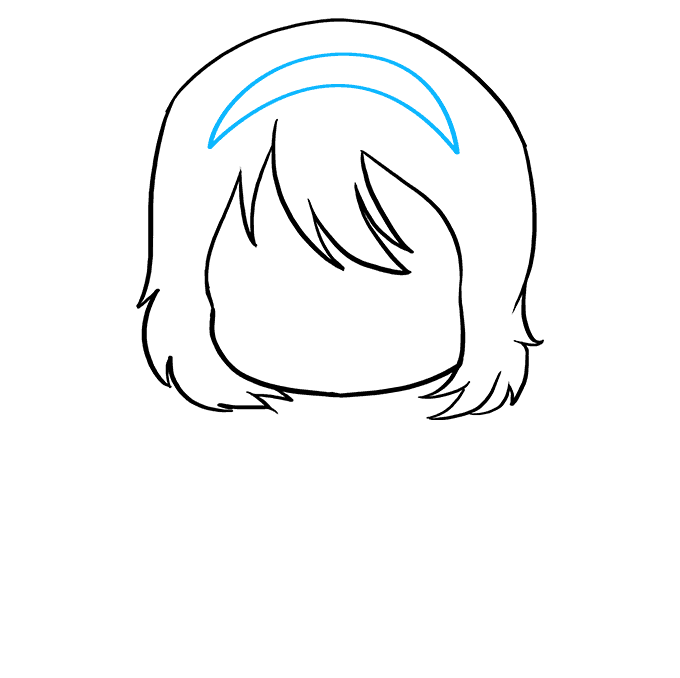 How to Draw an Anime Chibi Girl Step 04