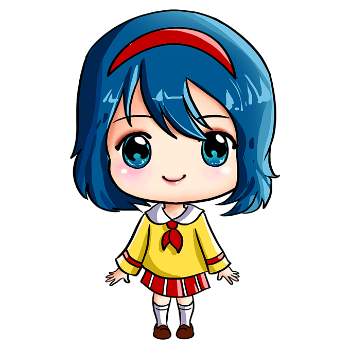 How to Draw an Anime Chibi Girl Step 10