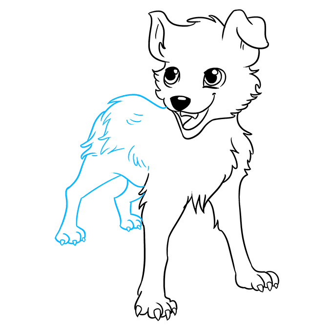 How to Draw an Anime Dog Step 08