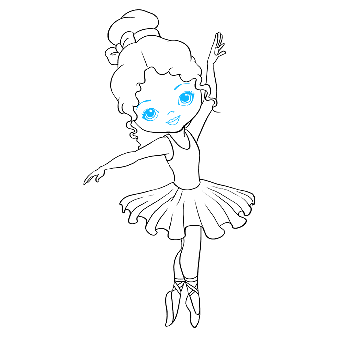 How to Draw Ballerina: Step 9