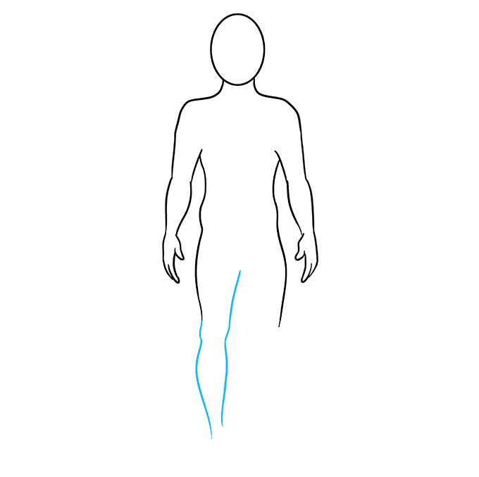 How to Draw a Body Outline Step 06