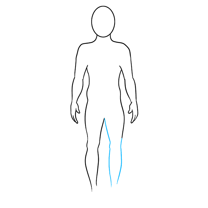 How to Draw a Body Outline Step 07