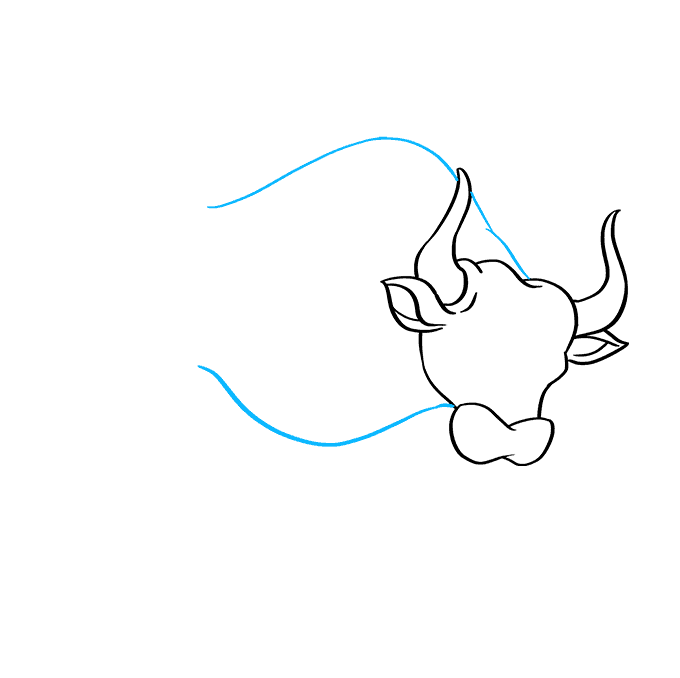 How to Draw Bull: Step 4