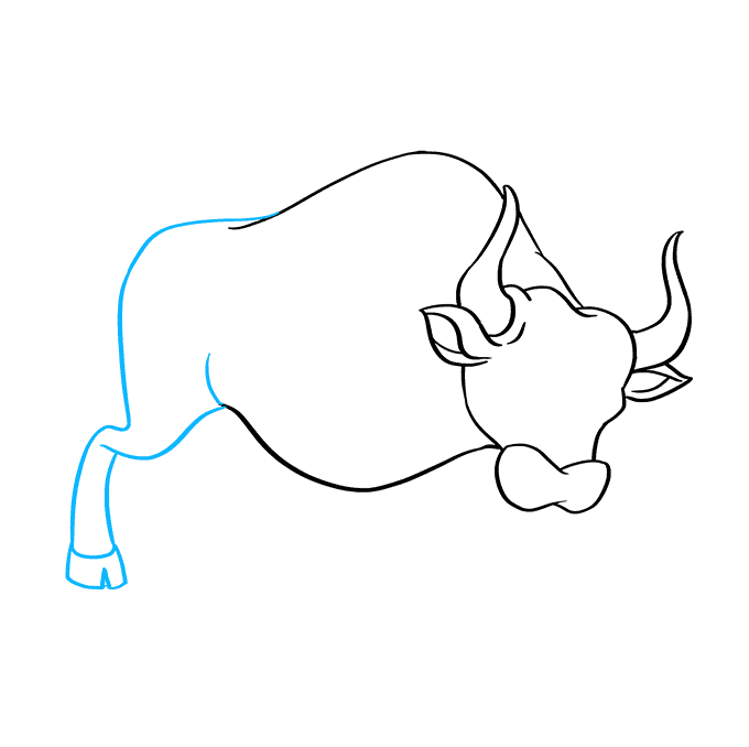 How to Draw a Bull Step 05