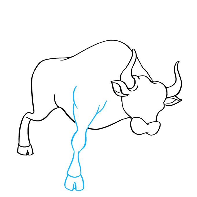 How to Draw a Bull Step 06