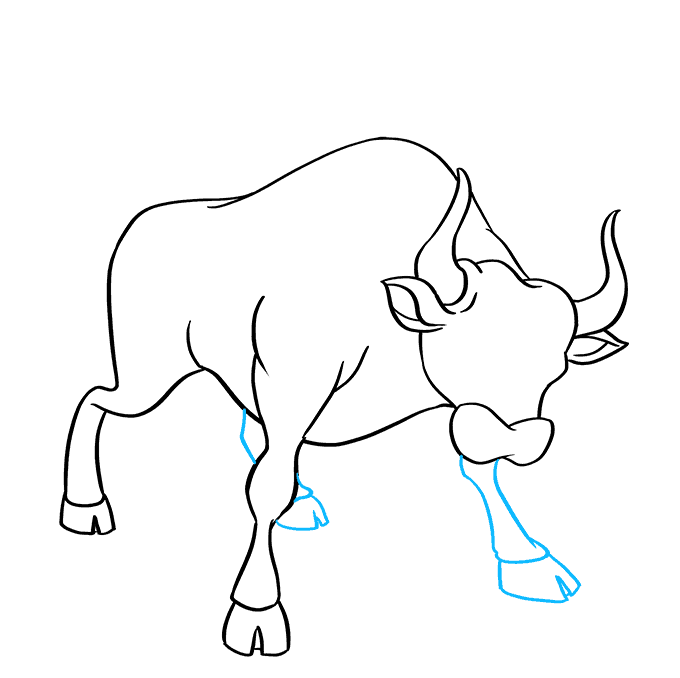 How to Draw a Bull Step 07