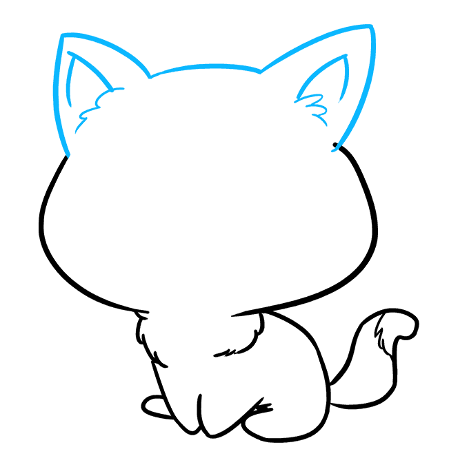 How to Draw Chibi Cat: Step 7