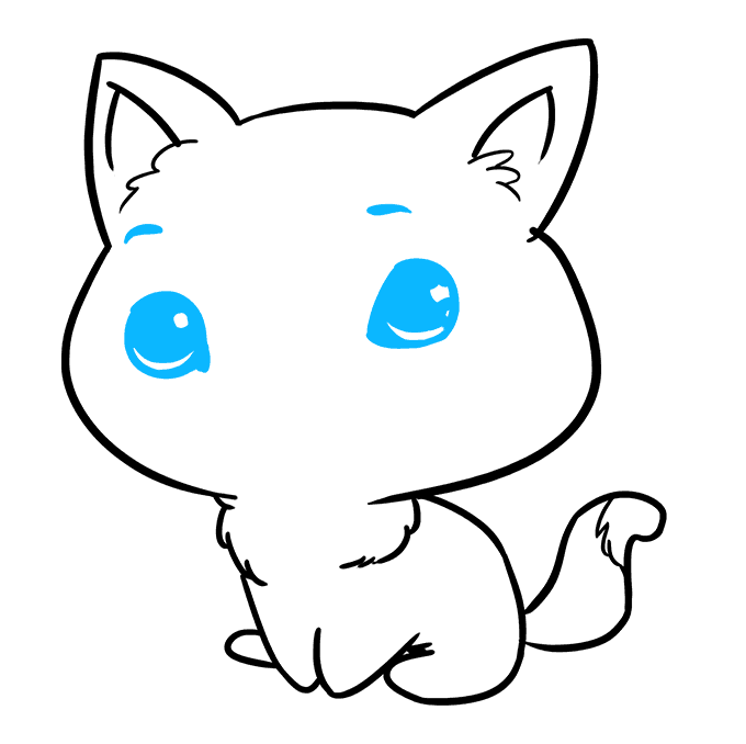 How to Draw Chibi Cat: Step 8