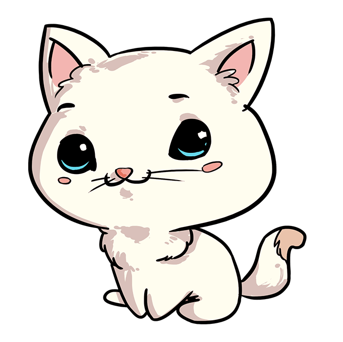 How to Draw Chibi Cat: Step 10