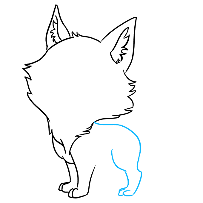 How to Draw Chibi Wolf: Step 5