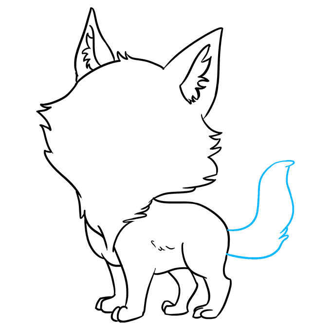 How to Draw Chibi Wolf: Step 7