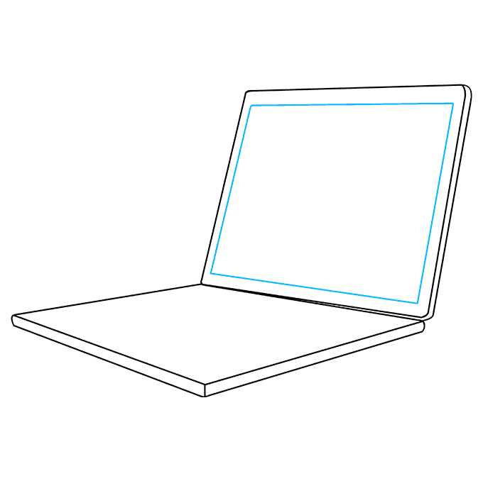 How to Draw Computer: Step 6