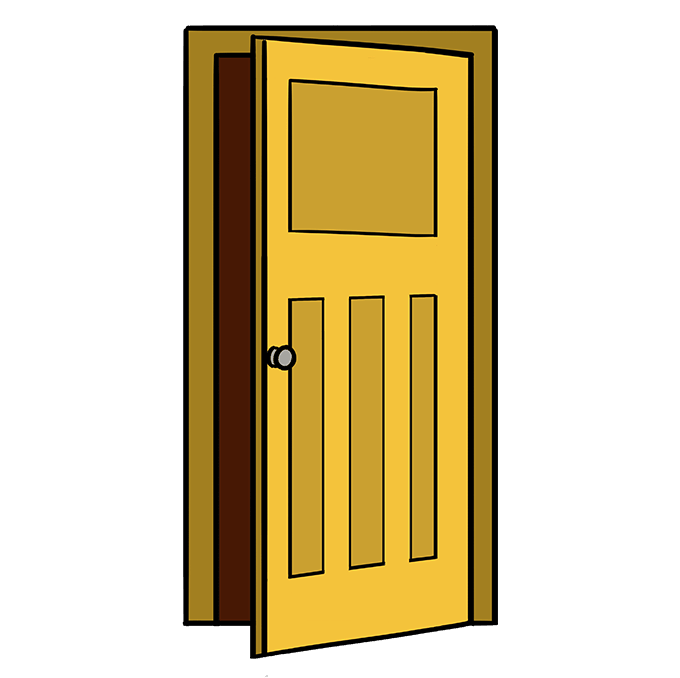 How to Draw Door: Step 10