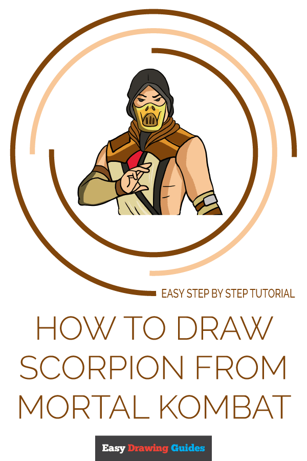 How to Draw Scorpion from Mortal Kombat | Share to Pinterest