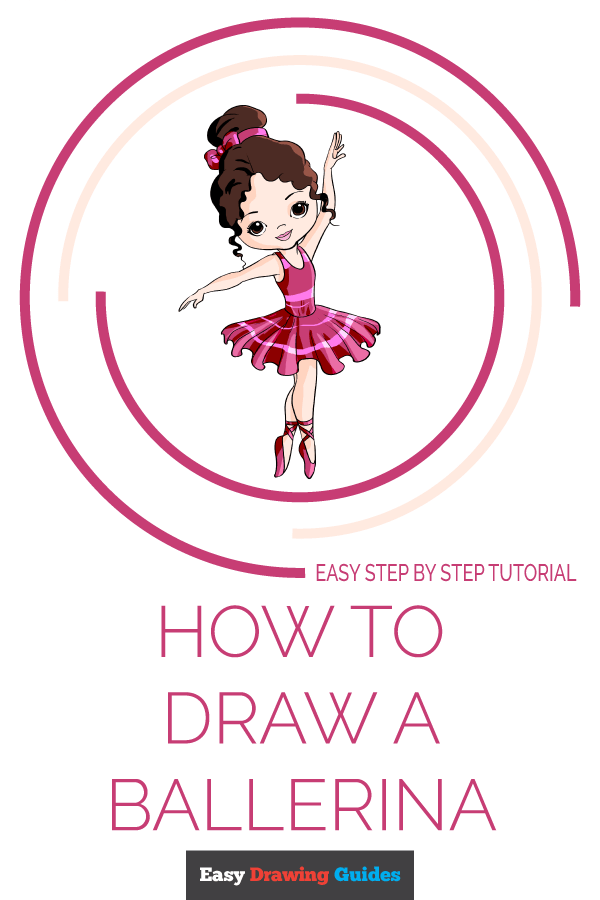 How to Draw Ballerina | Share to Pinterest