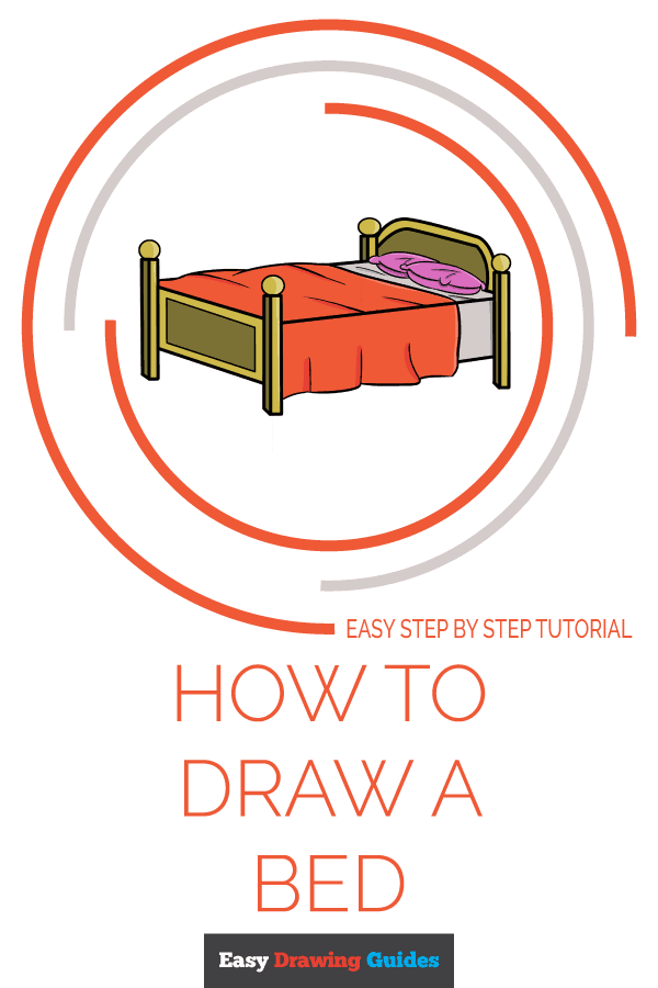 How to Draw a Bed Pinterest Image