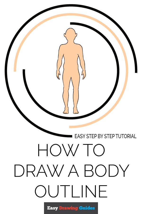 How to Draw a Body Outline Pinterest Image